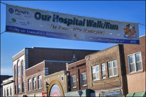 Hospital Walk Run Banner Downtown
