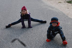 Cute Kids stretching