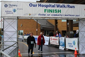 Walkers at finish