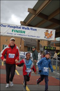 Family Finishes the 5km