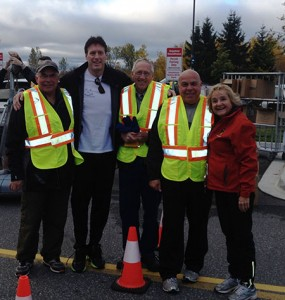 Walk Run volunteers with Paul Heinrich and Lois Krause