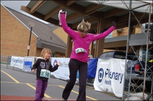 Hospital Mile Finish line celebration