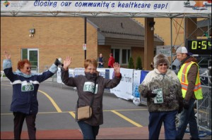 Hospital Mile Finishline Celebration