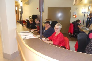 Wanda Doupe, Cheryl Cowden, Richard Labelle, Laureen Sasyniuk - Registration volunteers
